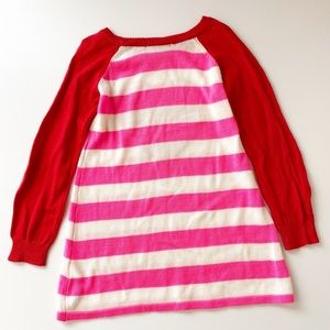 The Children's Place Red/Pink Heart Sweater Dress